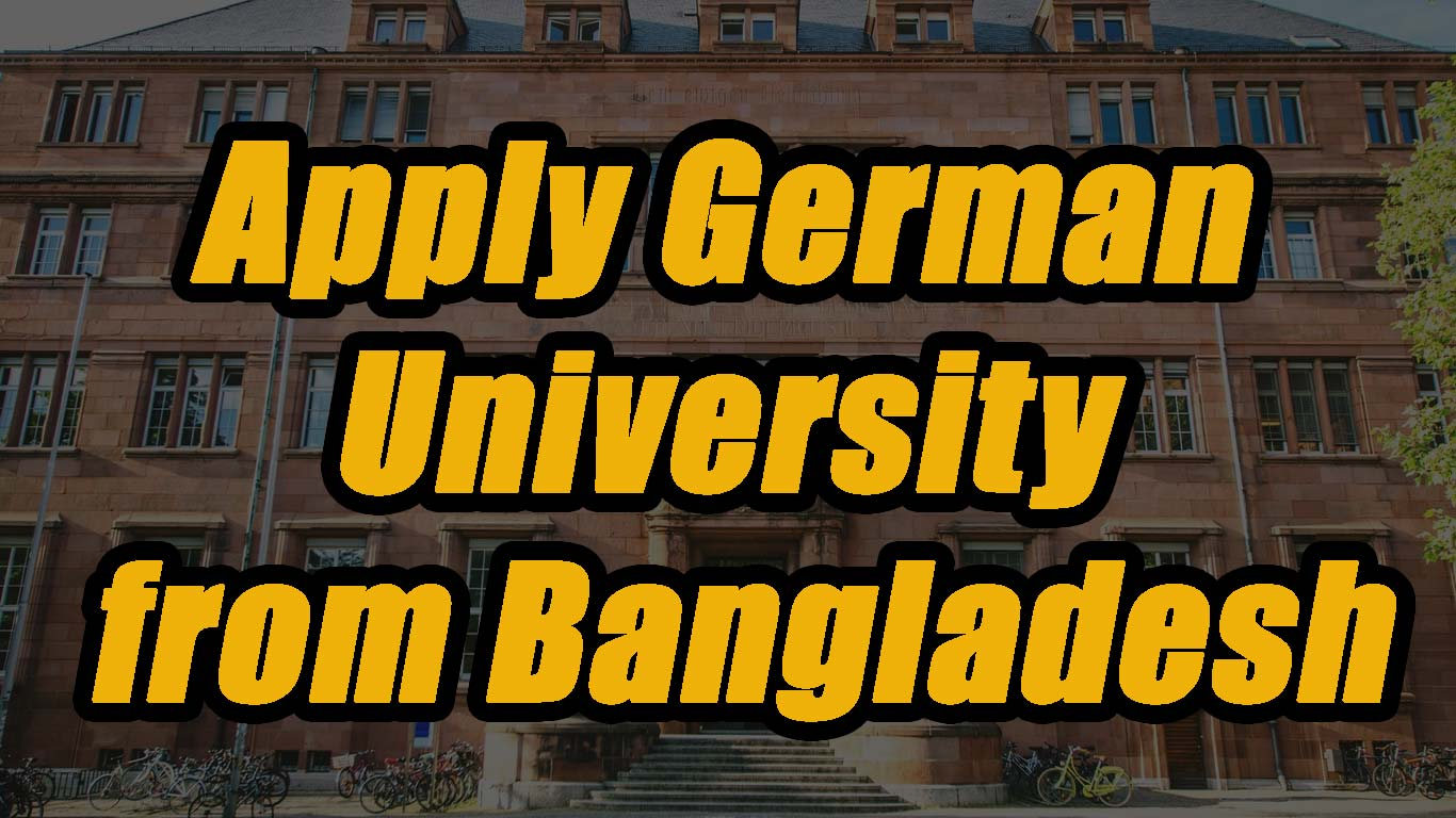 Apply German University from Bangladesh