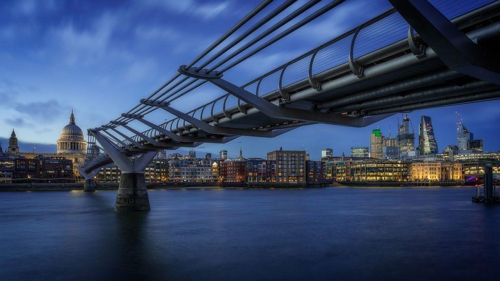 london, blue hour, england