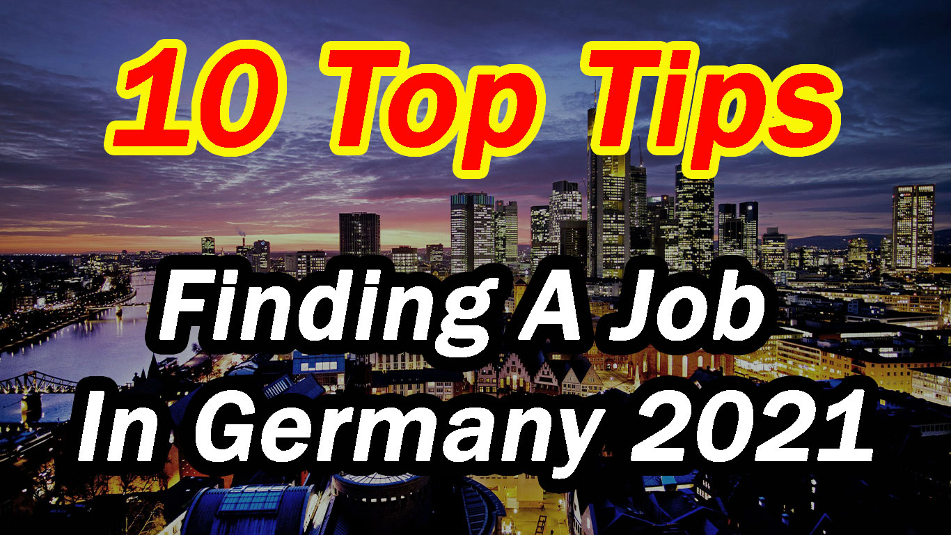 tips to find a job in Germany
