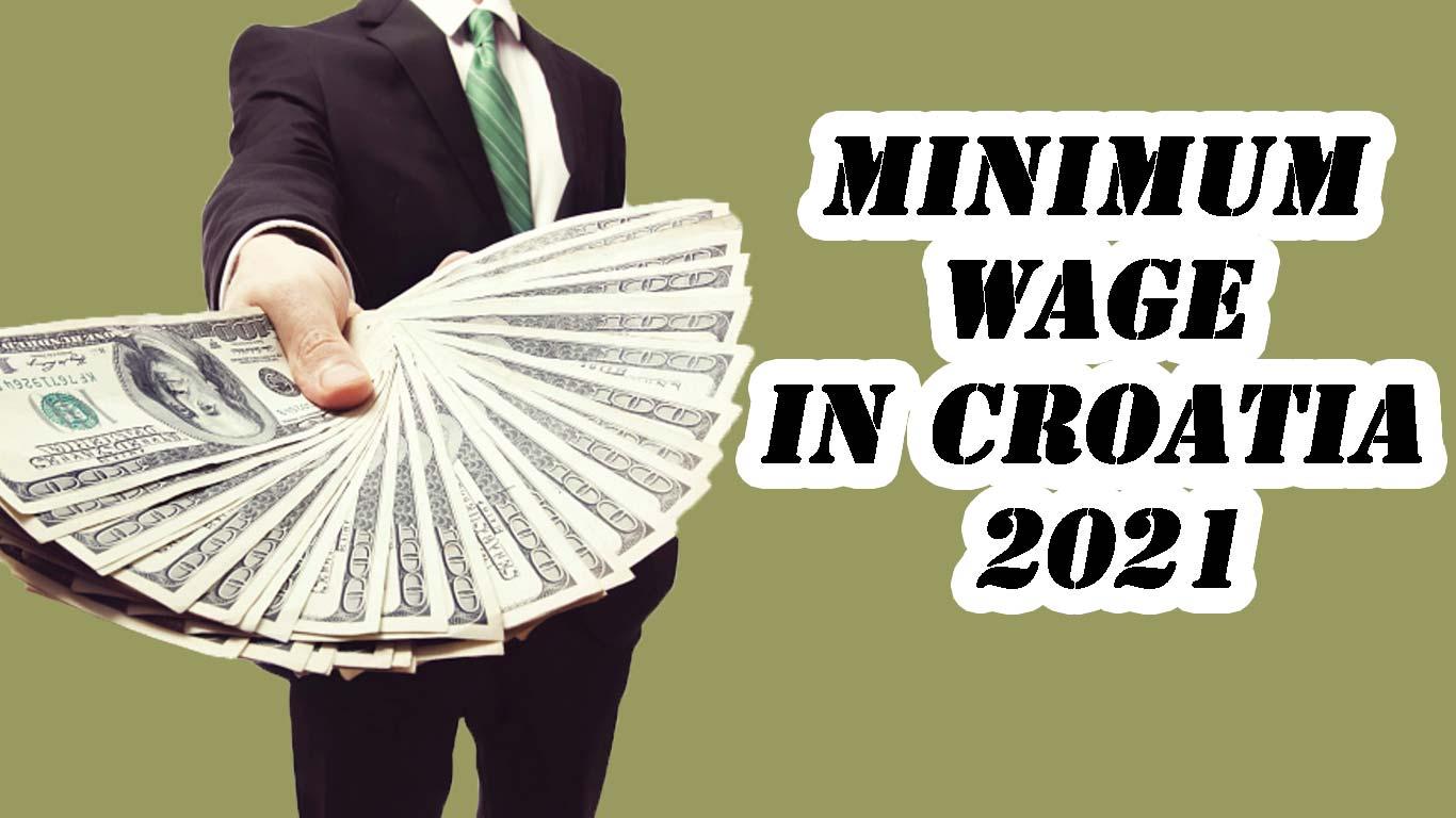 minimum wage in croatia 2021